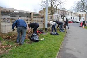 Volunteers at work Wyck Gardens Brixton London